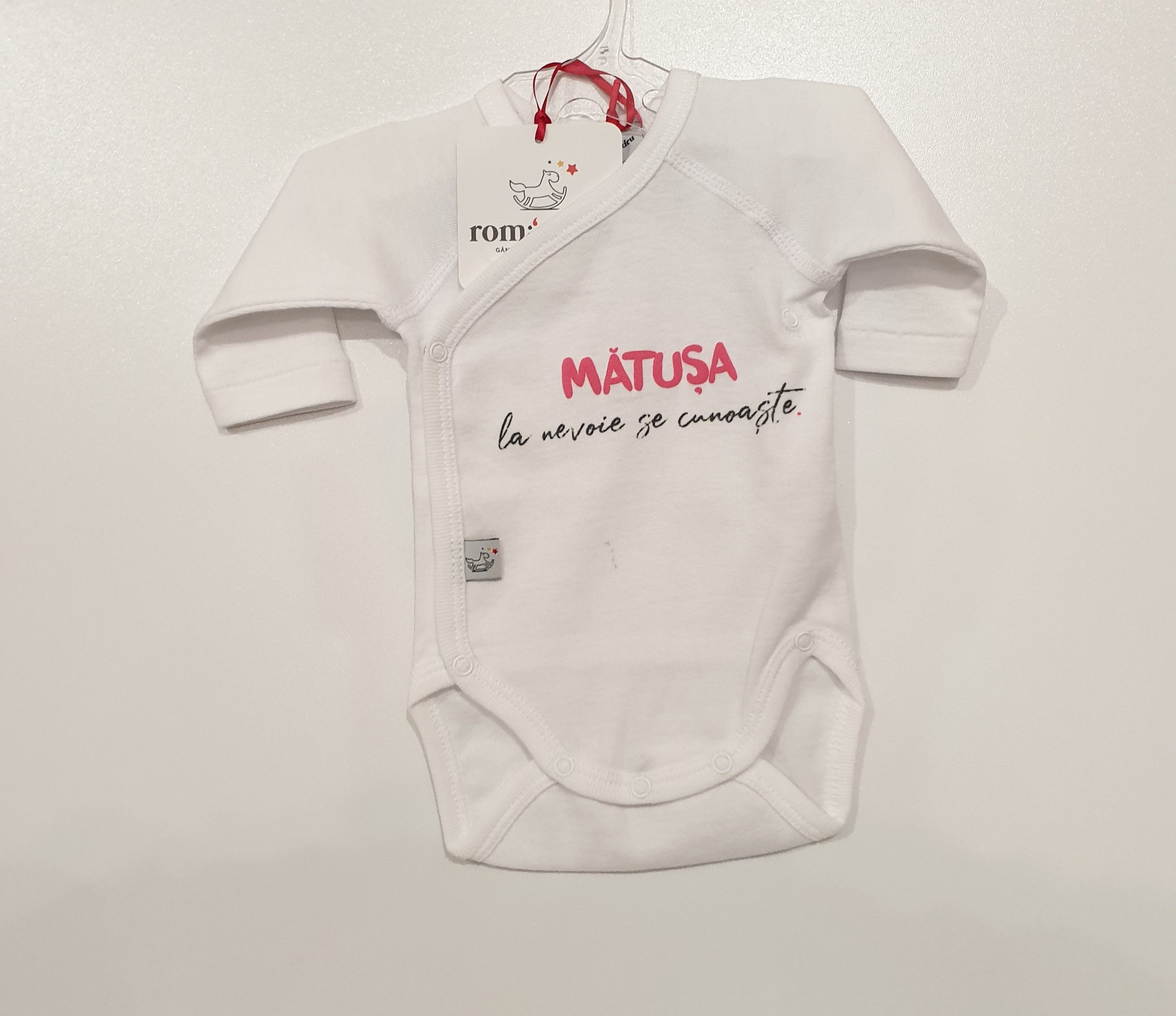Body bebe Alb ML NN Matusa la nevoie se cunoaste