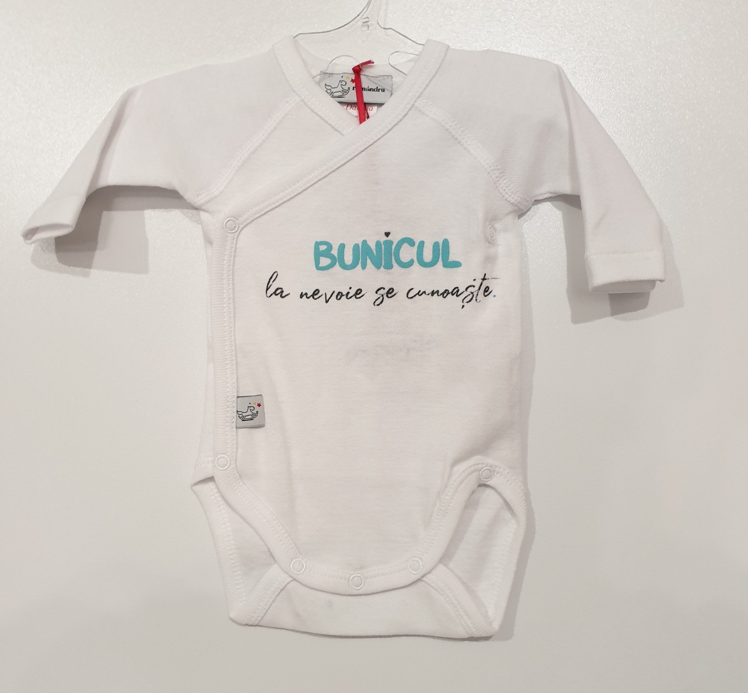Body bebe Alb ML NN Bunicul la nevoie se cunoaste