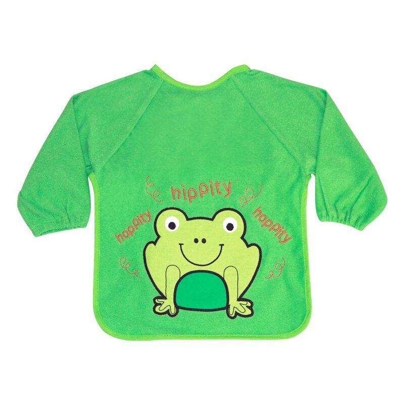 Baveta cu maneci si broderie Frog