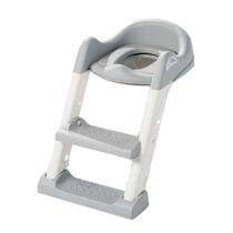 Reductor toaleta cu scara Little Mom Grey