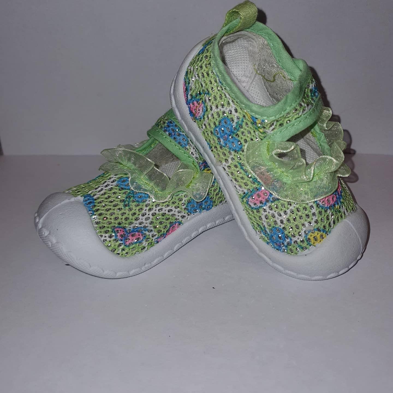 Papucei vara fetite Green