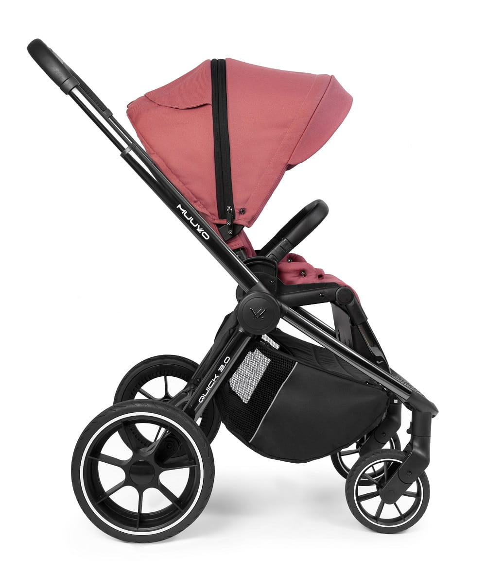 Carucior Muuvo Quick 3.0 black chrome Pure Pink www.tinytotsbebe.ro cluj (2)