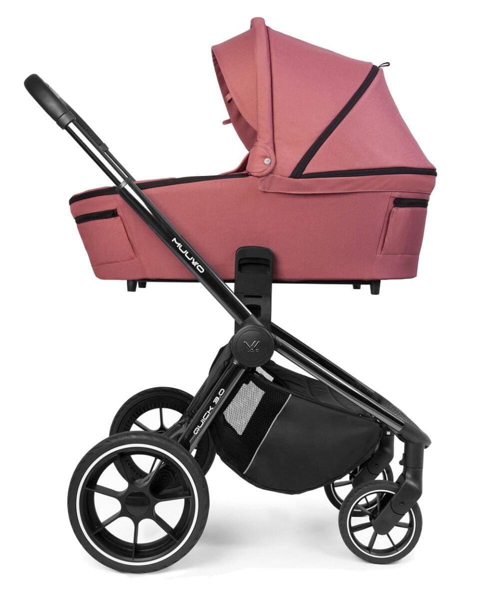 Carucior Muuvo Quick 3.0 black chrome Pure Pink www.tinytotsbebe.ro cluj (5)