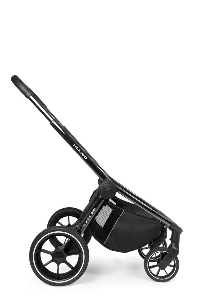 Muuvo Quick Black Chrome 30 jalutuskaru 2in1 Iron Graphite Lastevankrid ja karud Vankrid_7